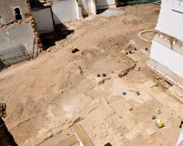 vista geral da escavação na rua da moeda